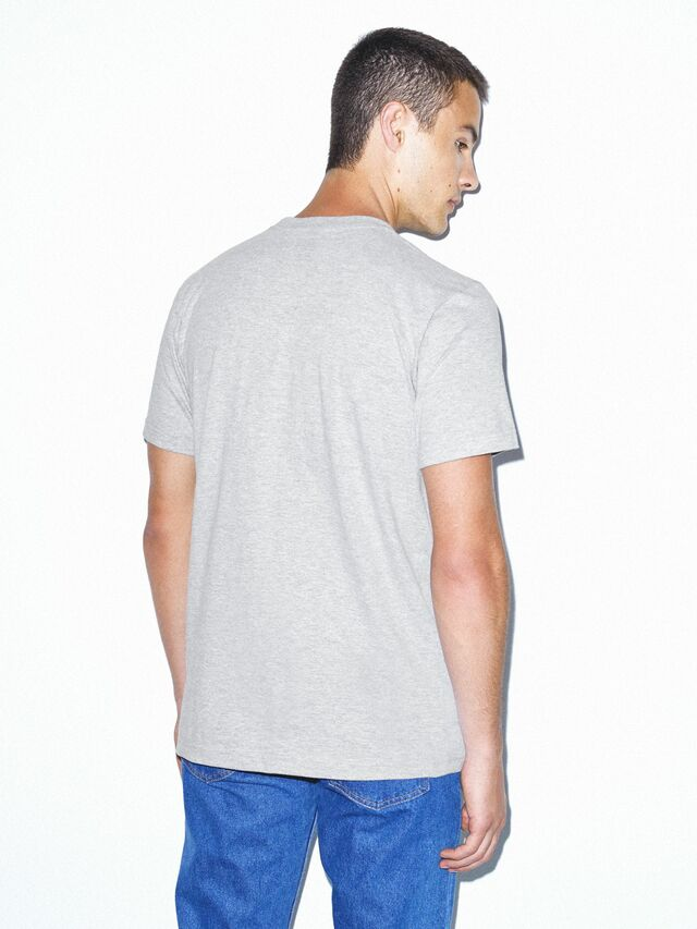 Fine Jersey Crewneck Pocket T-Shirt (Heather Grey)
