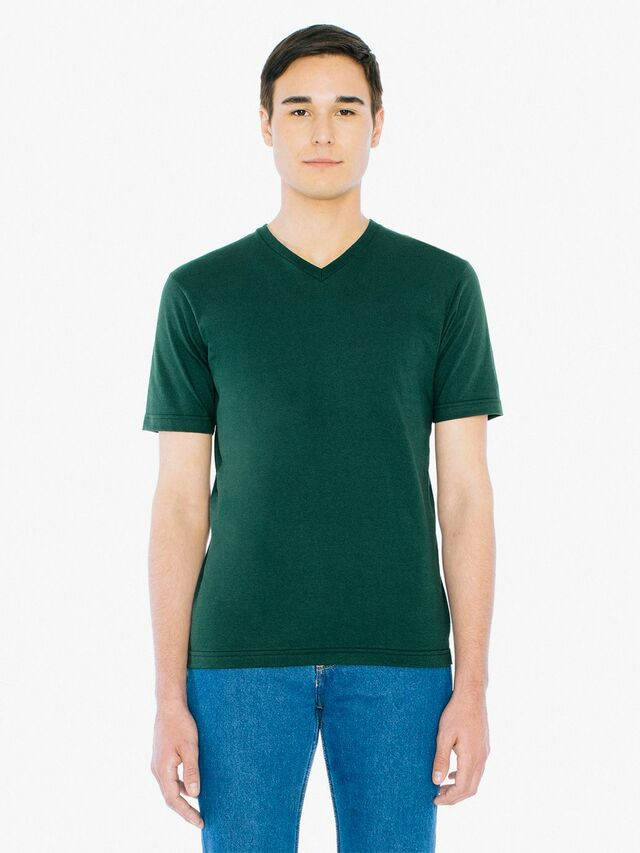 Fine Jersey Classic V-Neck (Forest)