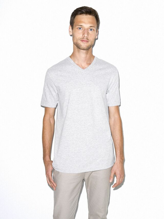 Fine Jersey Classic V-Neck (Heather Grey)