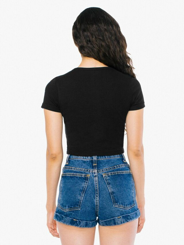 Baby Rib Crop T-Shirt (Black)