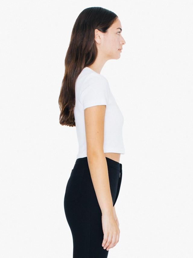 Baby Rib Crop T-Shirt (White)