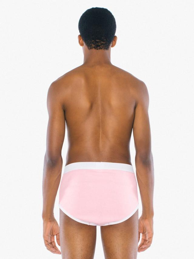 Baby Rib Brief (Pink/White)