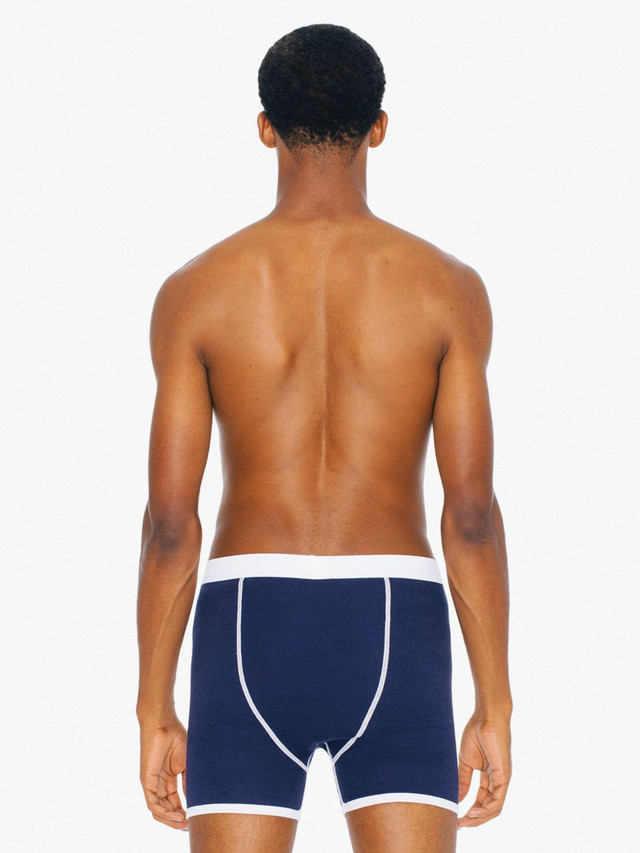 Baby Rib Boxer Brief (Navy/White)
