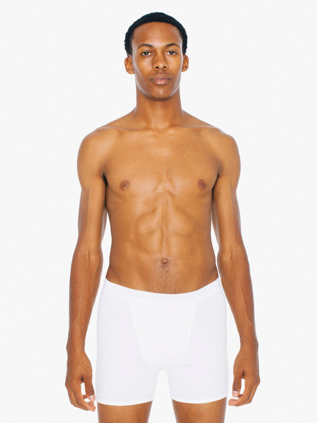 Baby Rib Boxer Brief (White/White)