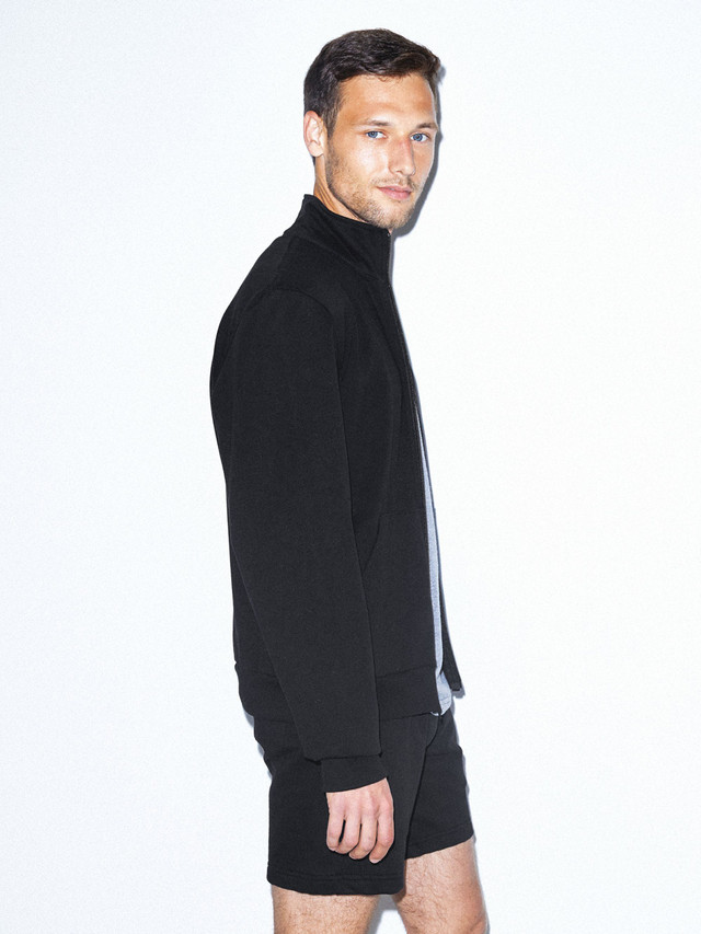 California Fleece Track Jacket (Black)