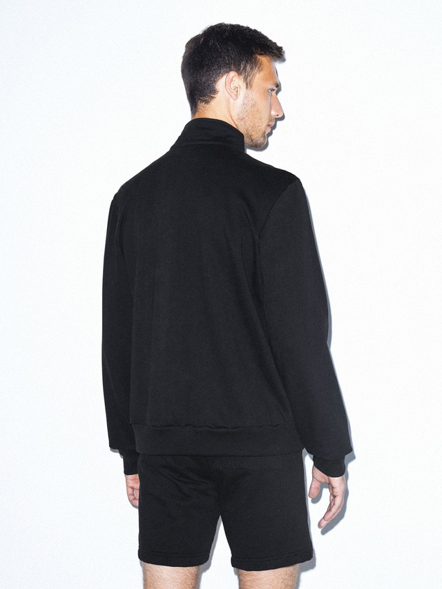 California Fleece Track Jacket (Black)
