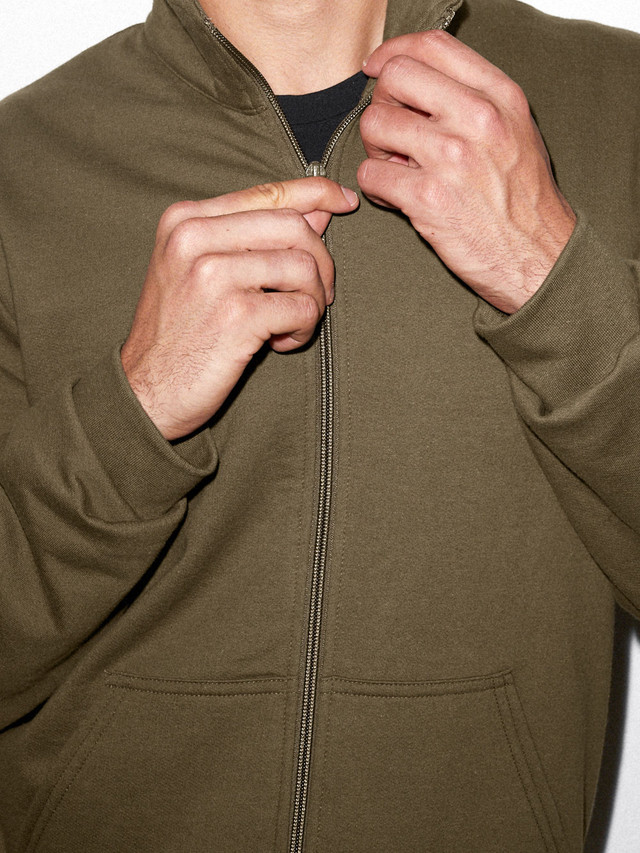 California Fleece Track Jacket (Army)