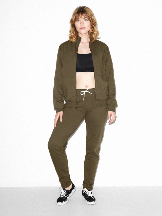 Unisex California Fleece Track Jacket (Army)