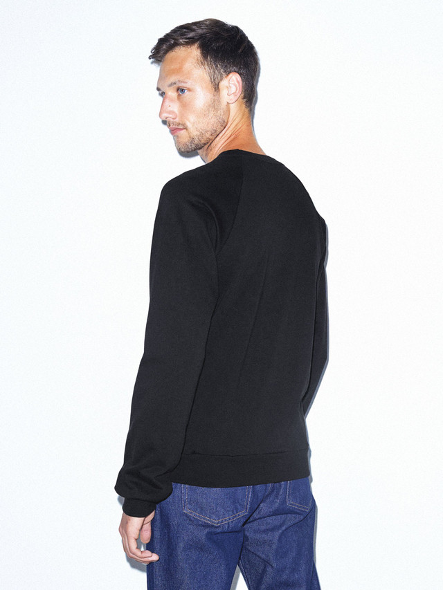 California Fleece Raglan (Black)