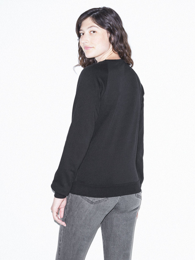 Unisex California Fleece Raglan (Black)