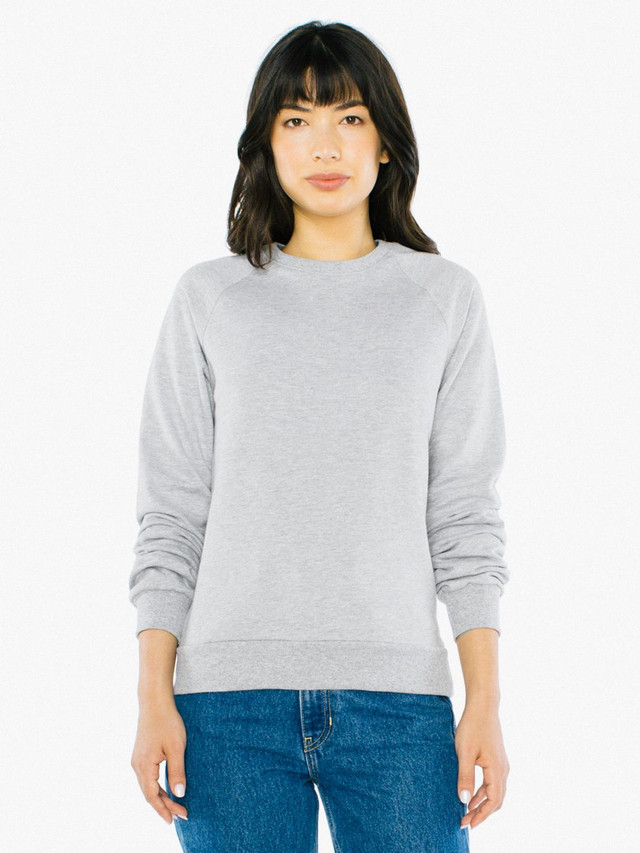 Unisex California Fleece Raglan (Heather Grey)