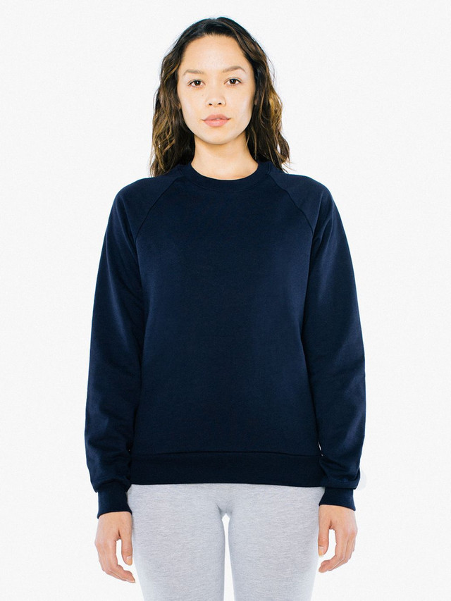 Unisex California Fleece Raglan (Navy)
