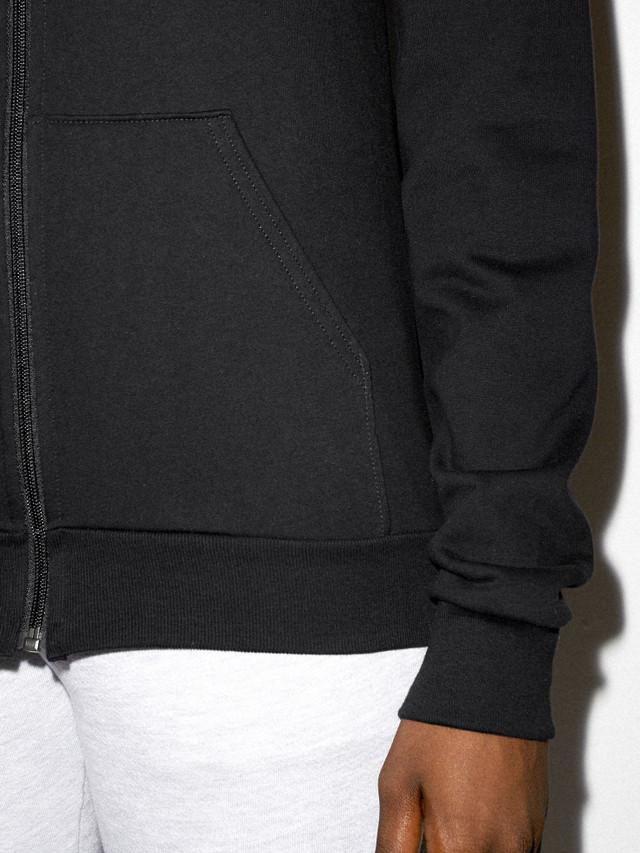 Unisex California Fleece Zip Hoodie (Black)