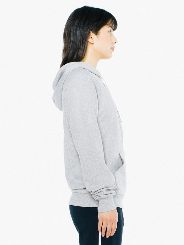 Unisex California Fleece Zip Hoodie (Heather Grey)