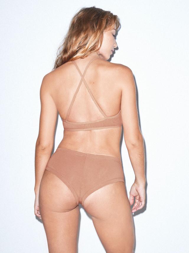 Cotton Spandex Jersey Crossback Bra (Nude 6)