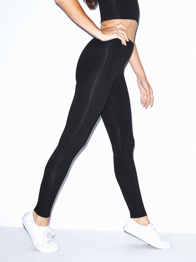 Cotton Spandex Jersey Legging (Black)