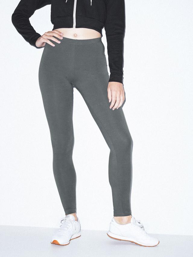 Cotton Spandex Jersey Legging (Asphalt)