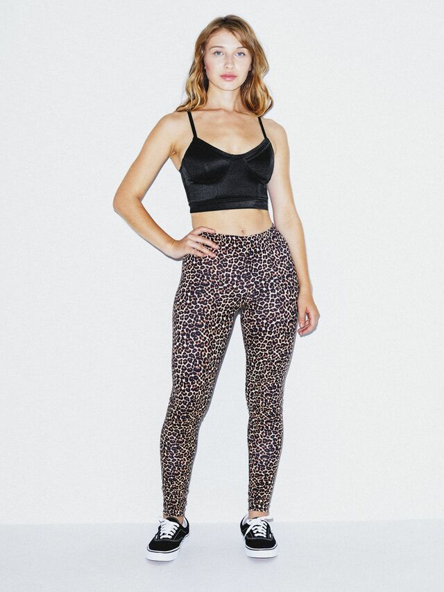 Cotton Spandex Jersey Legging (Cheetah)