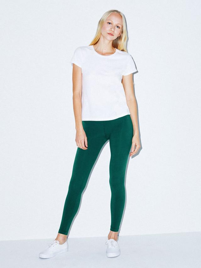 Cotton Spandex Jersey Legging (Forest)