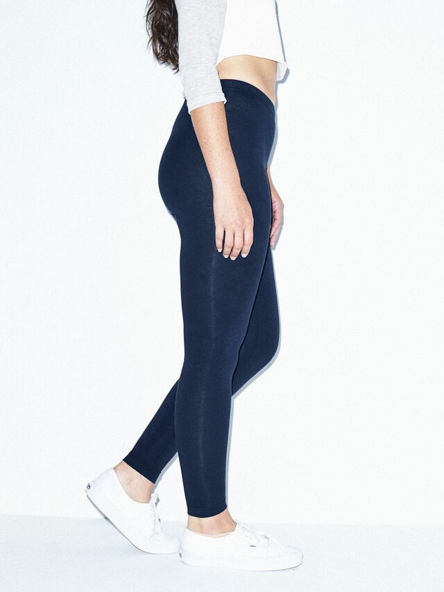 Cotton Spandex Jersey Legging (Navy)