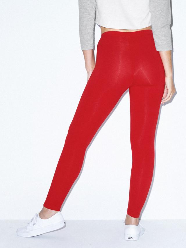 Cotton Spandex Jersey Legging (Red)