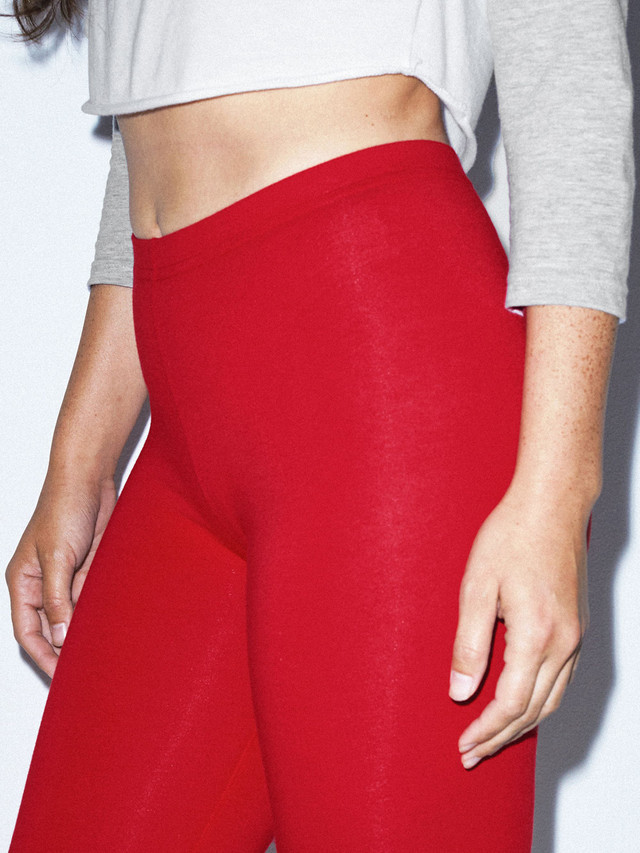 Cotton Spandex Jersey Legging (Red)