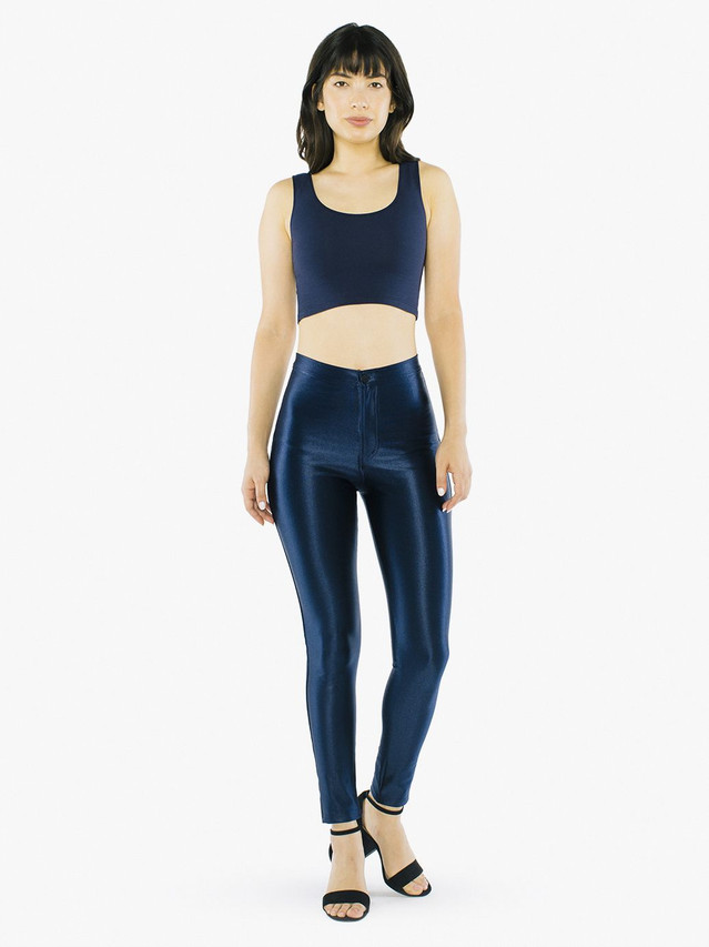 Cotton Spandex Crop Tank (Navy)