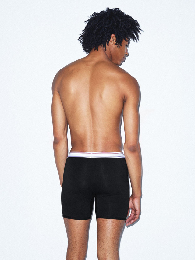 Cotton Spandex Boxer Brief (Black)