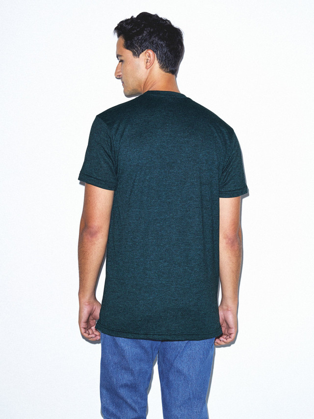 50/50 Crewneck T-Shirt (Black Aqua)