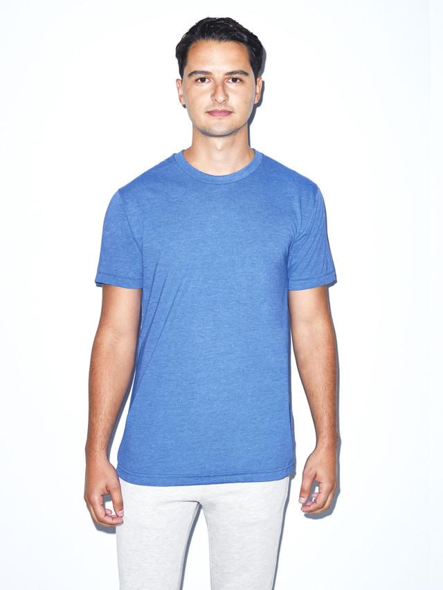 50/50 Crewneck T-Shirt (Heather Lake Blue)