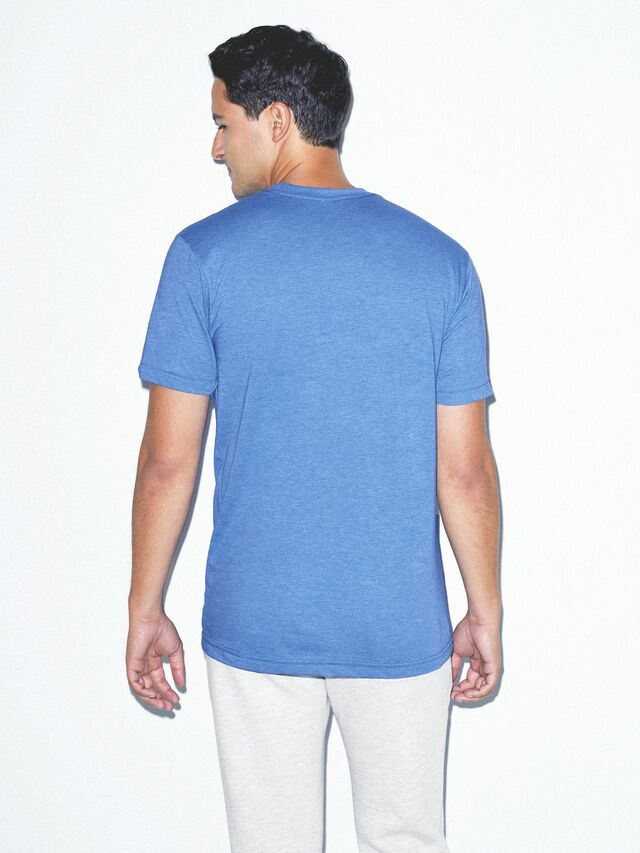 50/50 Crewneck T-Shirt (Heather Lake Blue)