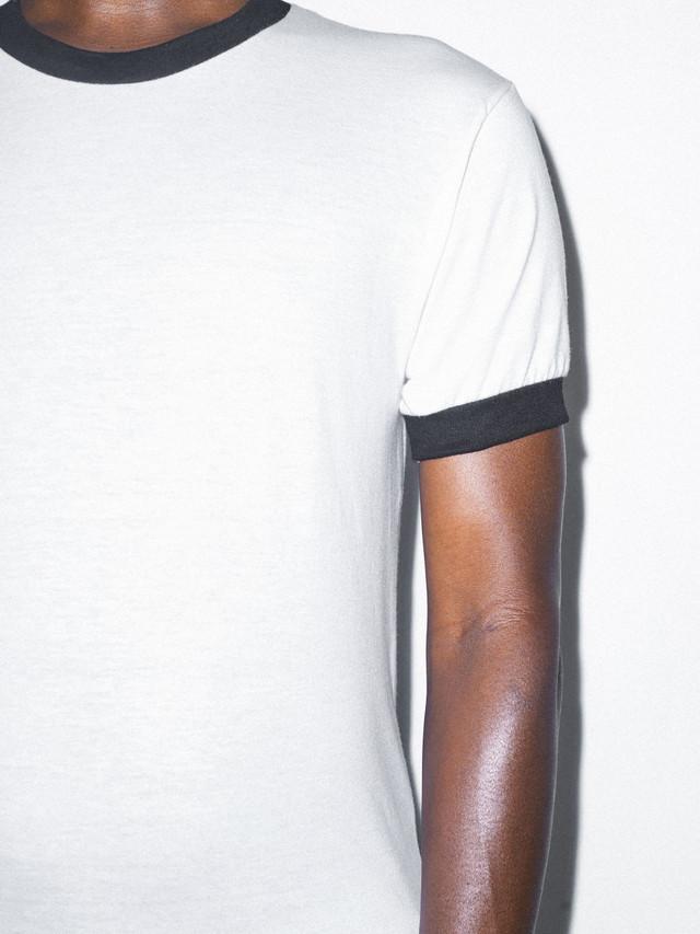 50/50 Crewneck Ringer T-Shirt (White/Black)