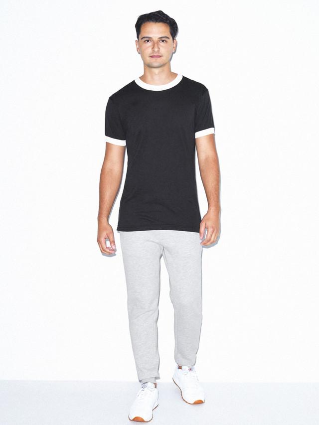 50/50 Crewneck Ringer T-Shirt (Black/White)
