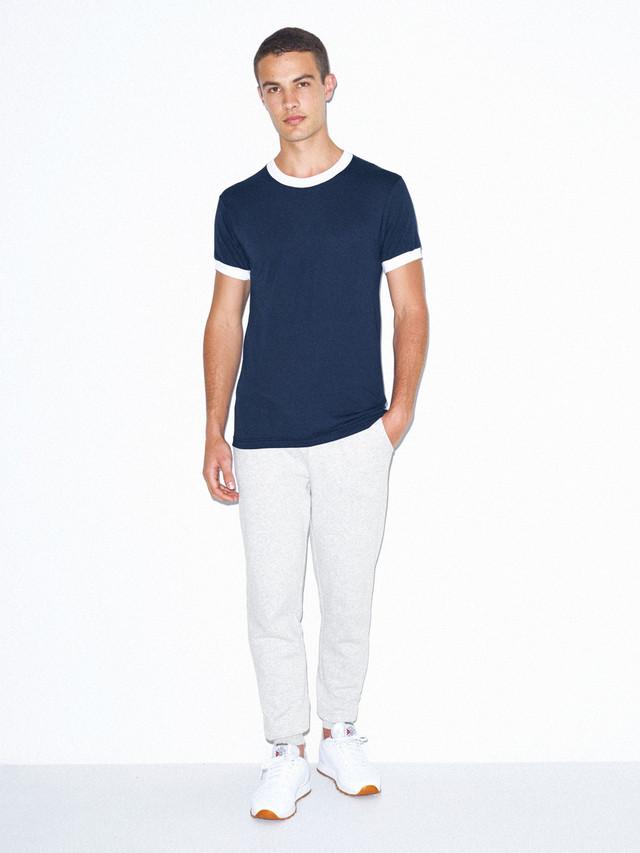 50/50 Crewneck Ringer T-Shirt (Navy/White)