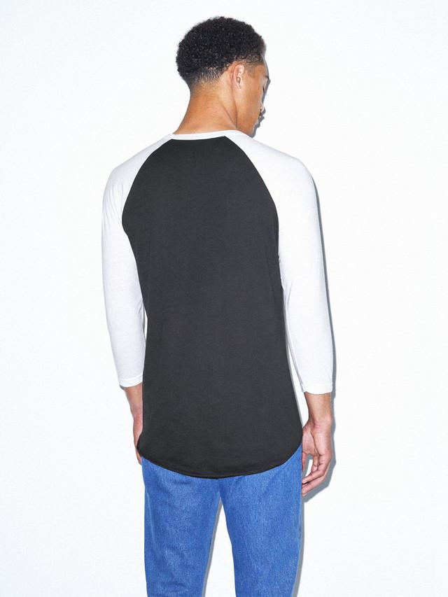 50/50 Raglan 3/4 Sleeve T-Shirt (Black/White)