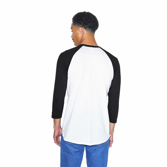 50/50 Raglan 3/4 Sleeve T-Shirt (White/Black)