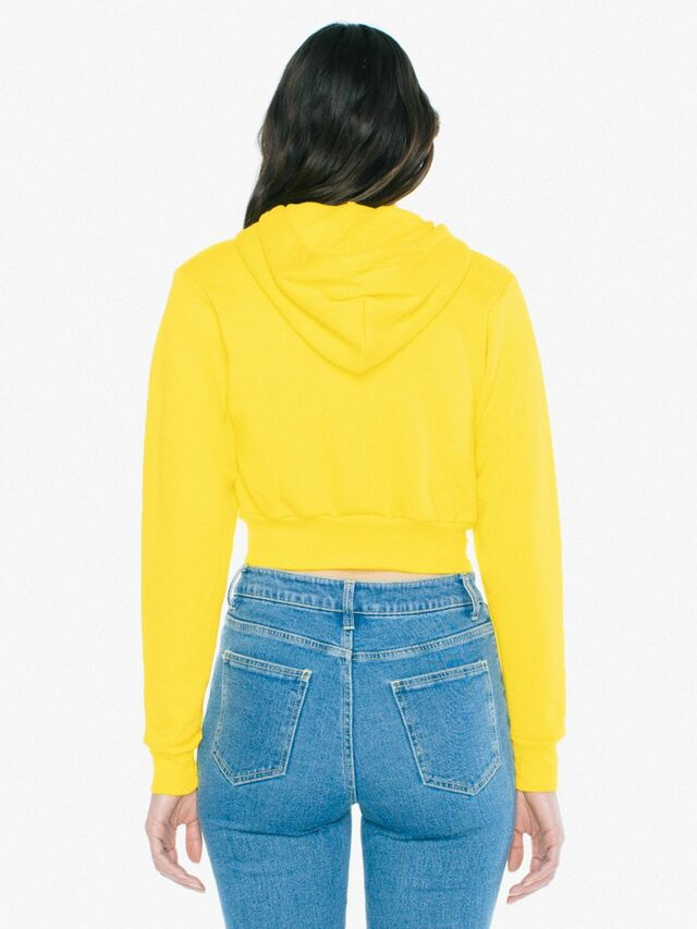 Flex Fleece Cropped Zip Hoodie (Sunshine)