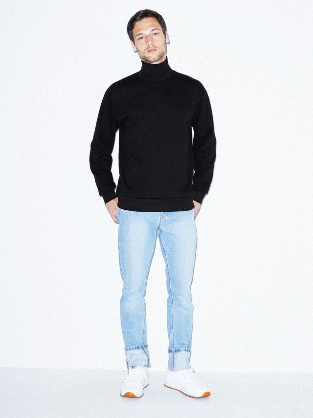Flex Fleece Turtleneck (Black)