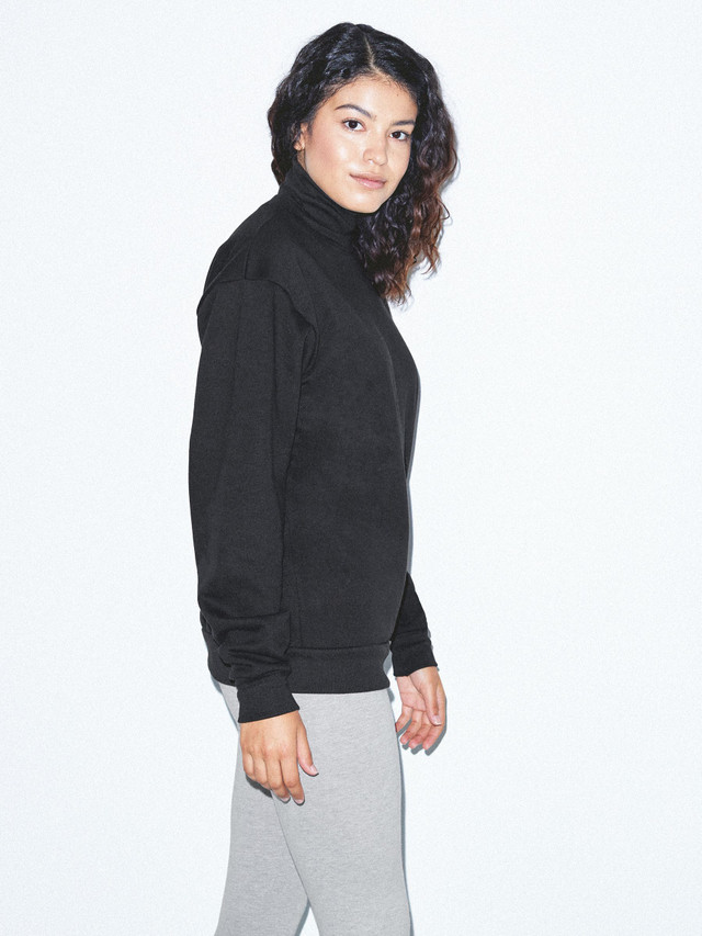 Unisex Flex Fleece Turtleneck (Black)