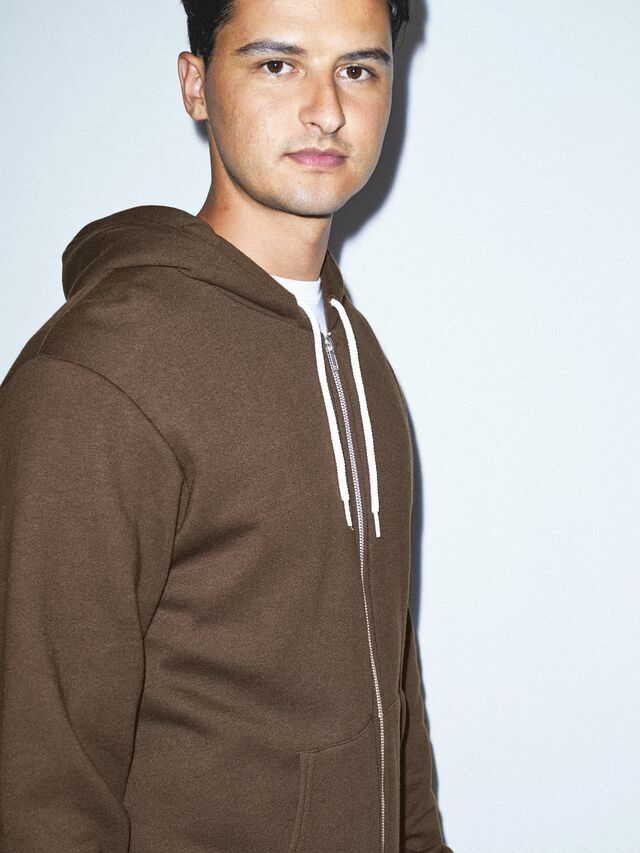Flex Fleece Zip Hoodie (Brown)