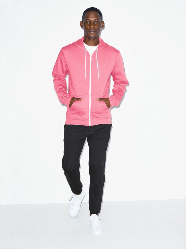 Flex Fleece Zip Hoodie (Deep Pink)