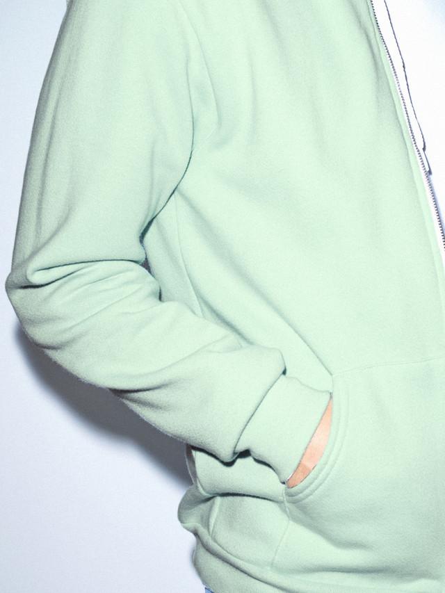 Flex Fleece Zip Hoodie (Menthe)