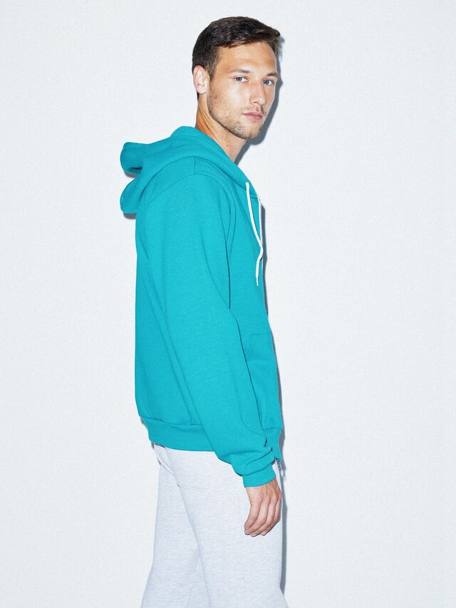Flex Fleece Zip Hoodie (Mermaid Green)