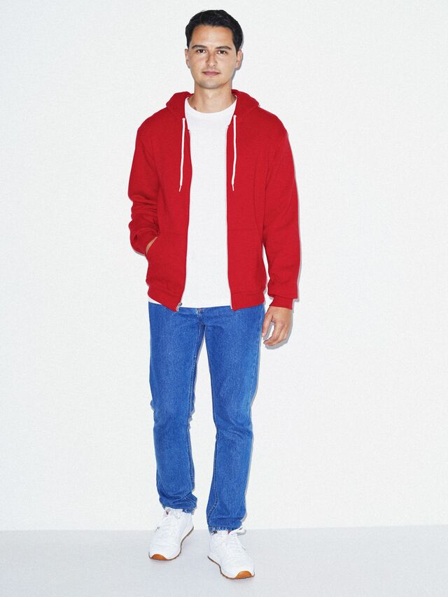 Flex Fleece Zip Hoodie (Red)