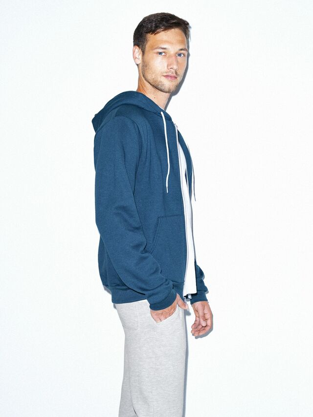 Flex Fleece Zip Hoodie (Sea Blue)