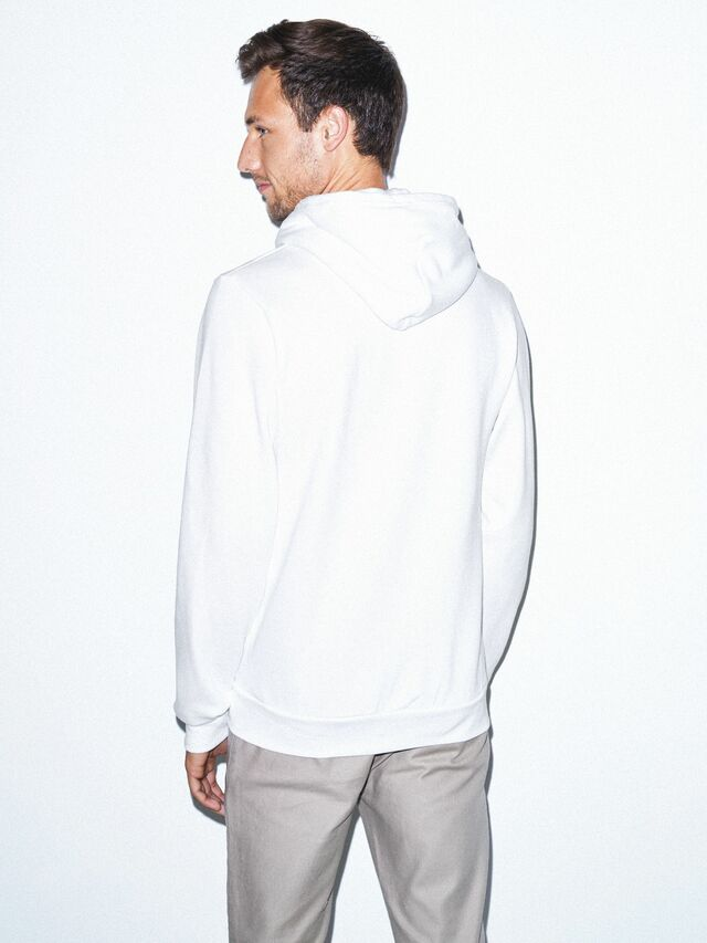 Flex Fleece Zip Hoodie (White)