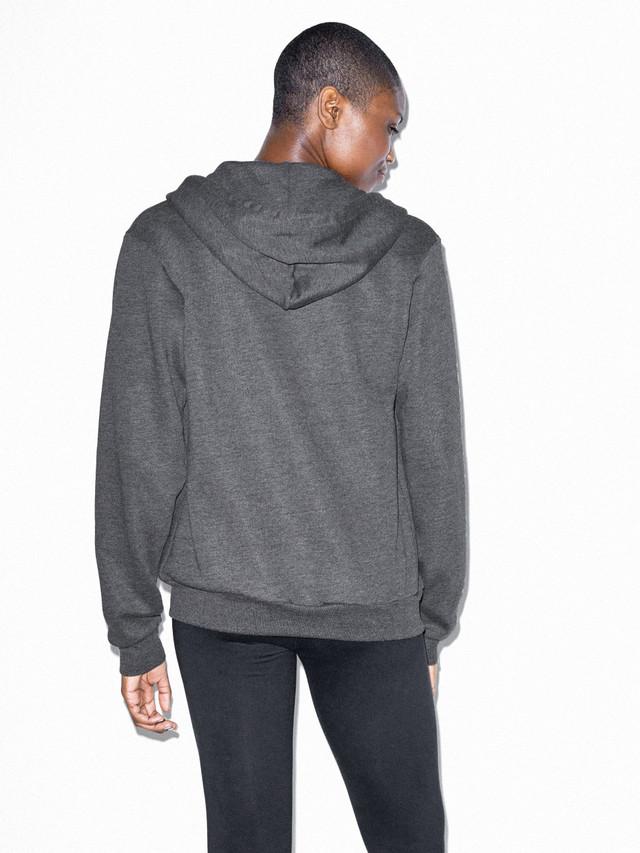 American Apparel F497 Flex Fleece Zip Hoodie XXS 1 Asphalt 1 Dark Heather Grey