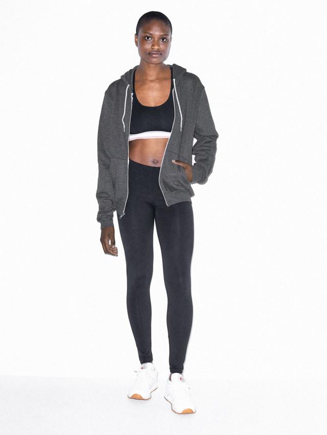 Unisex Flex Fleece Zip Hoodie  (Dark Heather Grey)