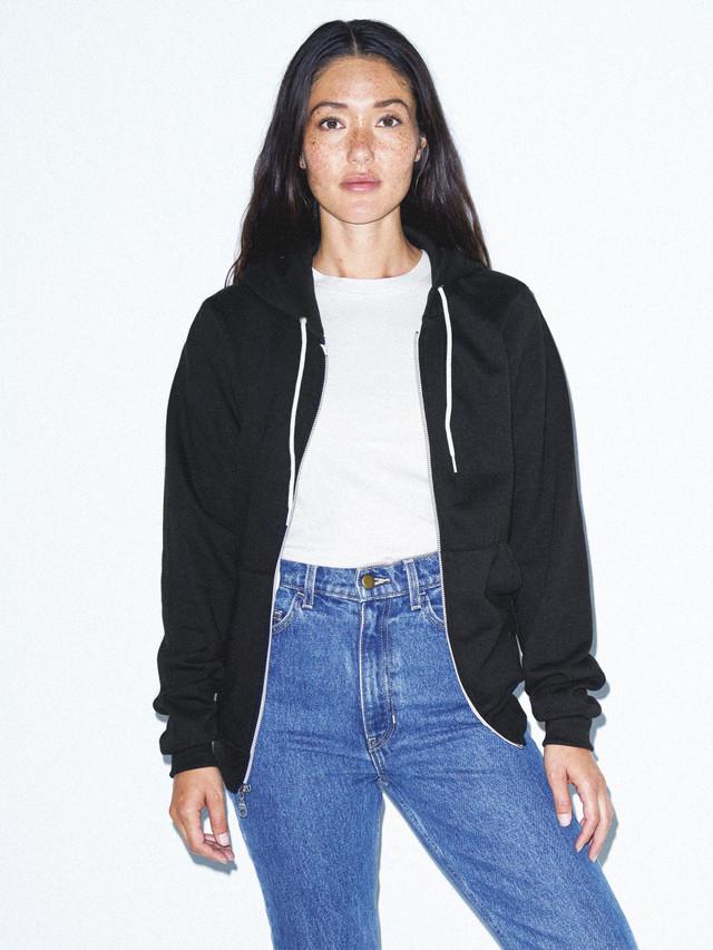 Unisex Flex Fleece Zip Hoodie  (Black)