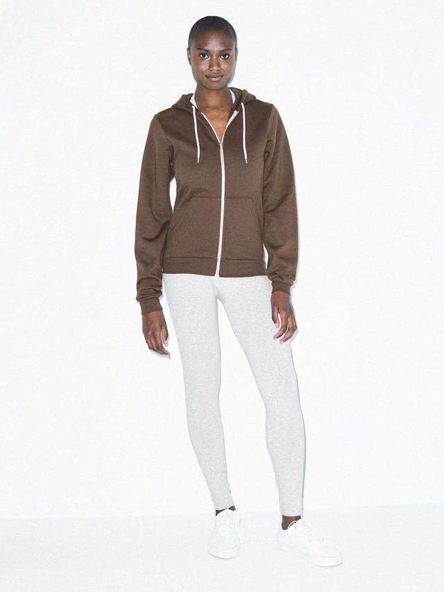Unisex Flex Fleece Zip Hoodie  (Brown)